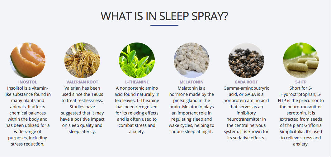 Marz Sleep Spray Review - Sleep Deprivation? Get MARZ SLEEP SPRAY - Natural Sleep Aids -ingredients