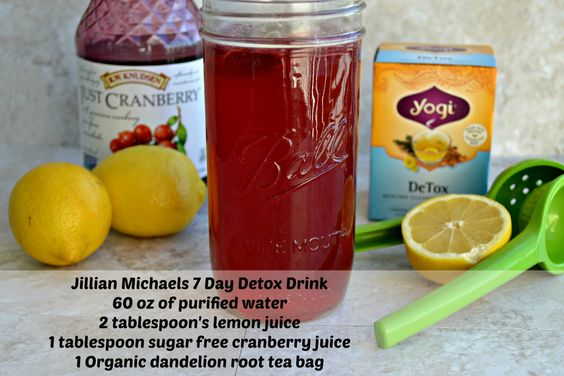 Jillian Michaels 7 Day Detox Water