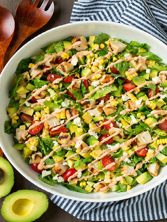Avocado and Grilled Chicken Chopped Salad