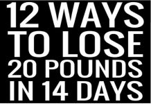 17 DAY DIET - 14 Ways To Lose 20 Pounds in 14 Days